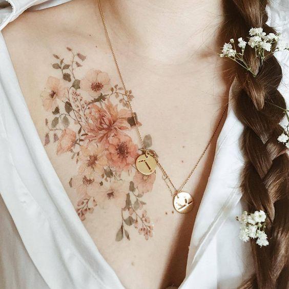 รอยสักรูปดอกไม้