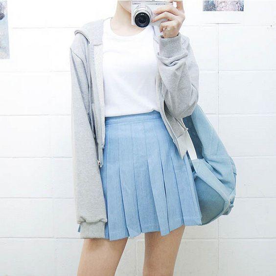 เสื้อผ้า สีฟ้า