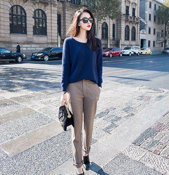 กางเกงสแลคผู้หญิง